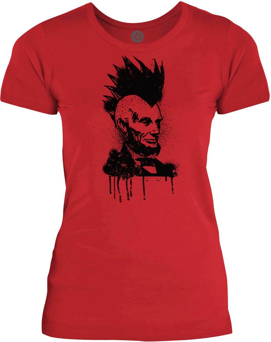 Big texas mohawk lincoln black womens fine jersey tshirt