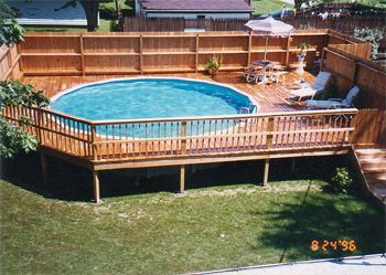 Silverdesign Award 96 97 Above Ground Pools Experts Best Above Ground Pool Pool Deck Plans Pool Landscaping