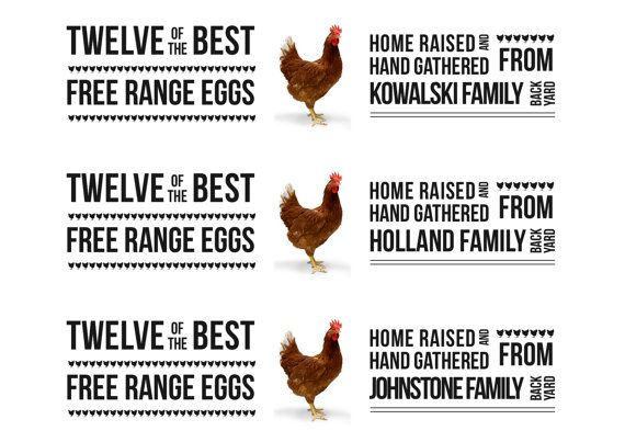 Personalised egg carton labels. Pdf version to print on A4 sticker ...