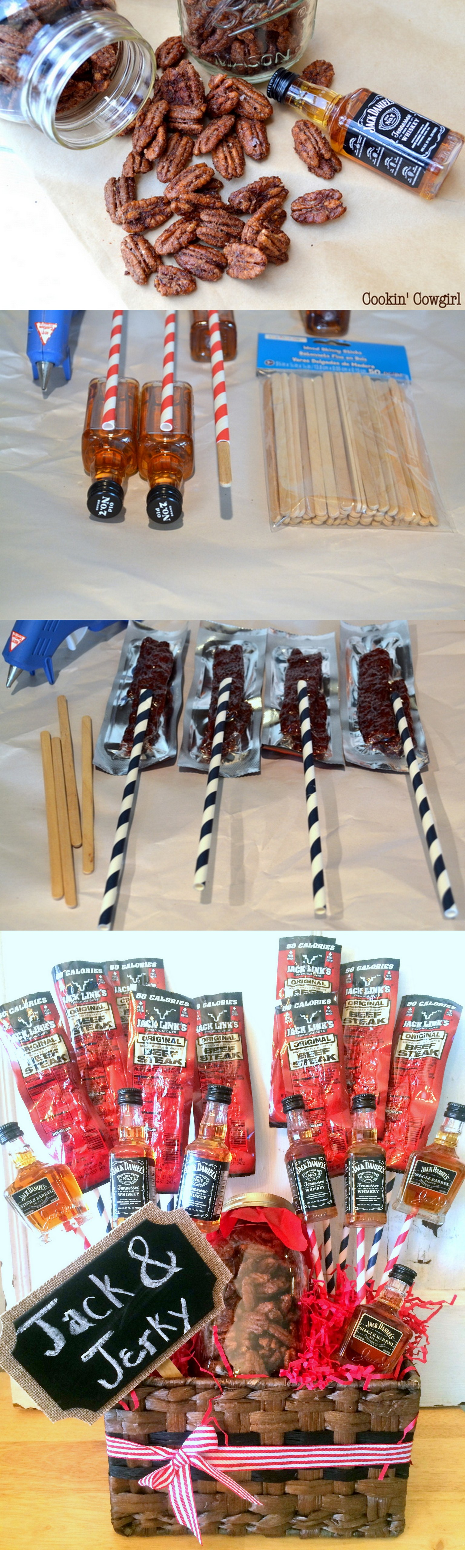 Jack and Jerky Bouquet Great gifts for dad, Cool diy