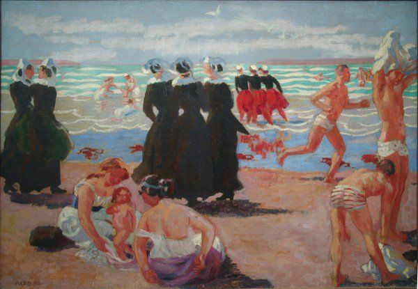 """Maurice Denis 1870-1943 """" Baignades au pardon de Ste Anne la Palud """""""