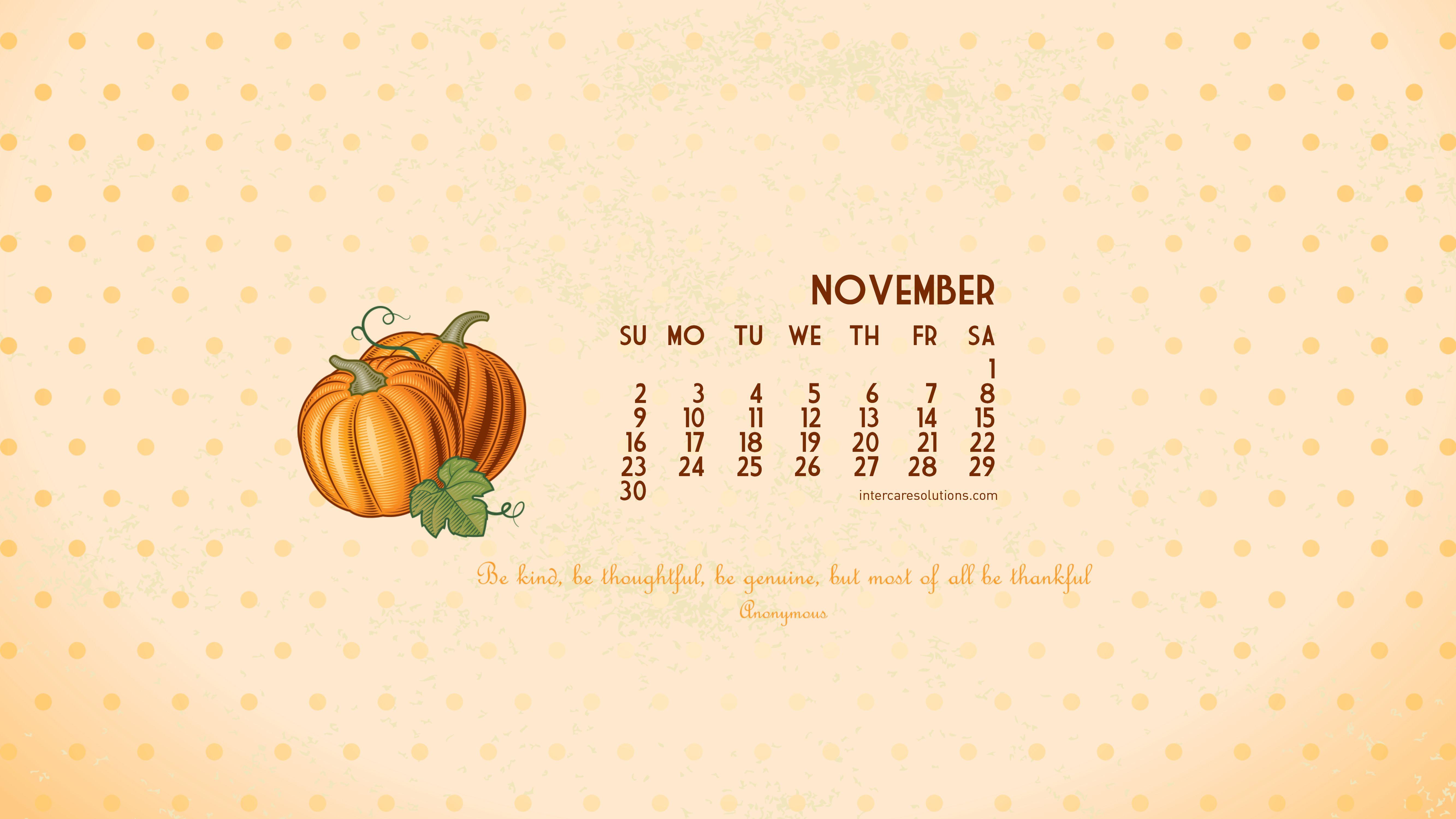November 2014 Calendar Wallpaper
