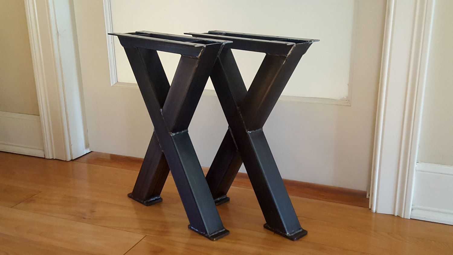 X 2 Bench Metal Legs Bench Or Coffee Table Metal Legs Etsy Metal Table Legs Metal Coffee Table Steel Table Legs
