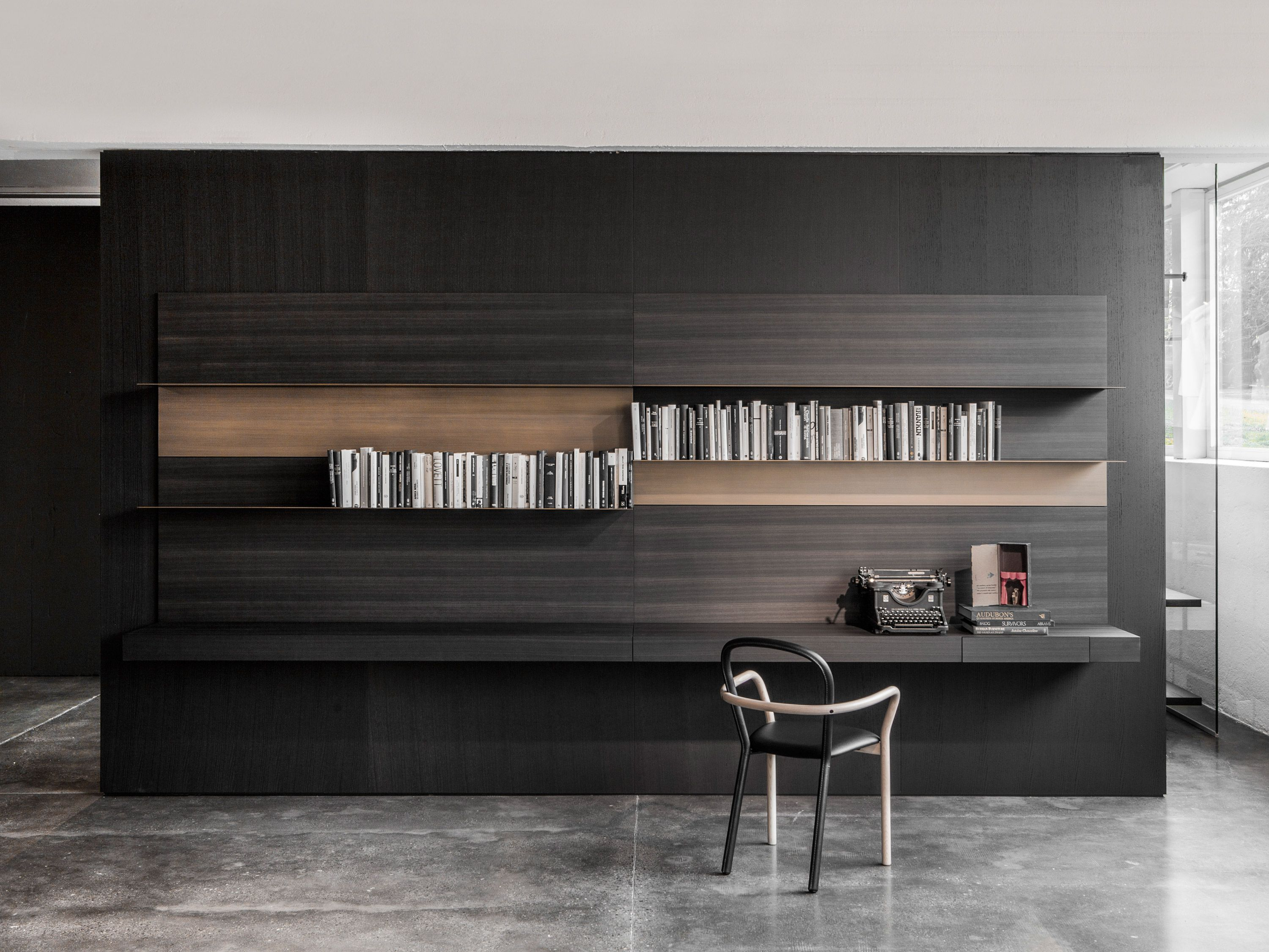 Porro Spa P Bookcase Manufactured With High Resistant Wax  # Meuble Tv Forza