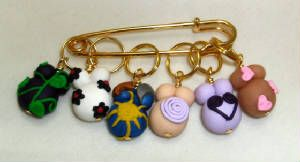 Pregnant belly stitch markers @Rhiannon Larsen for all that baby knitting ;-)