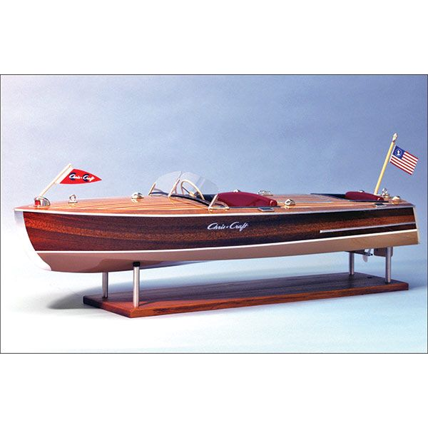 1949 Chris Craft Racing Runabout Wooden Boat Kit 18 Scale Ship