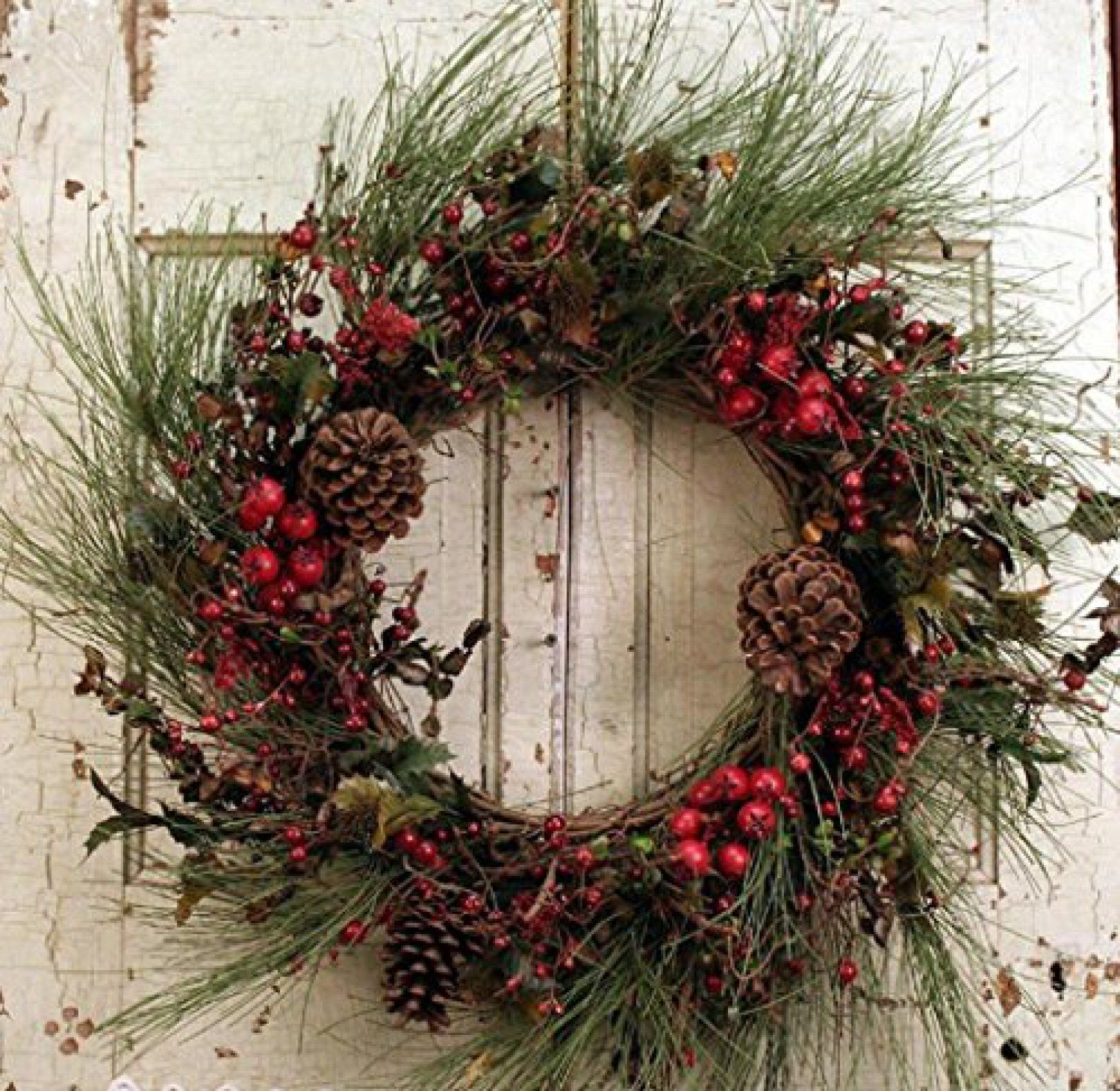 Old Fashion Christmas Is A Wonderful Front Door Wreath Hang