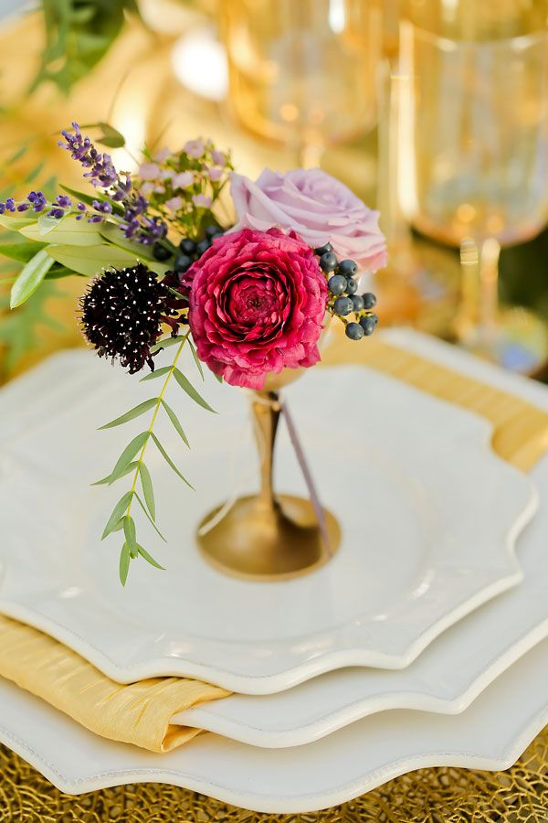 Event Styling: Michelle Leo Events | Table, Flatware, China: Z Gallerie | Floral: Blooms and Blossoms | Photography: Pepper Nix