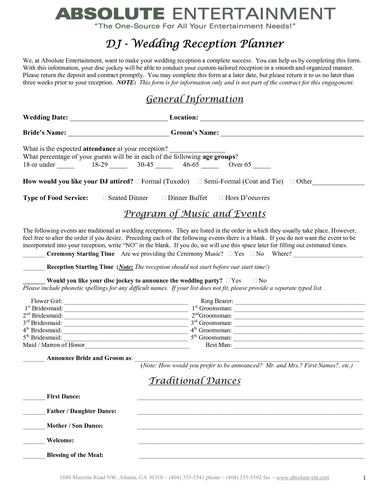 Wedding planner contract template baby shower for Event management agreement template