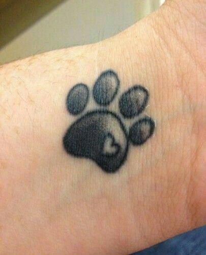 Paw Print Tattoos Pfote Hund Tattoo Ideen Katzenpfoten
