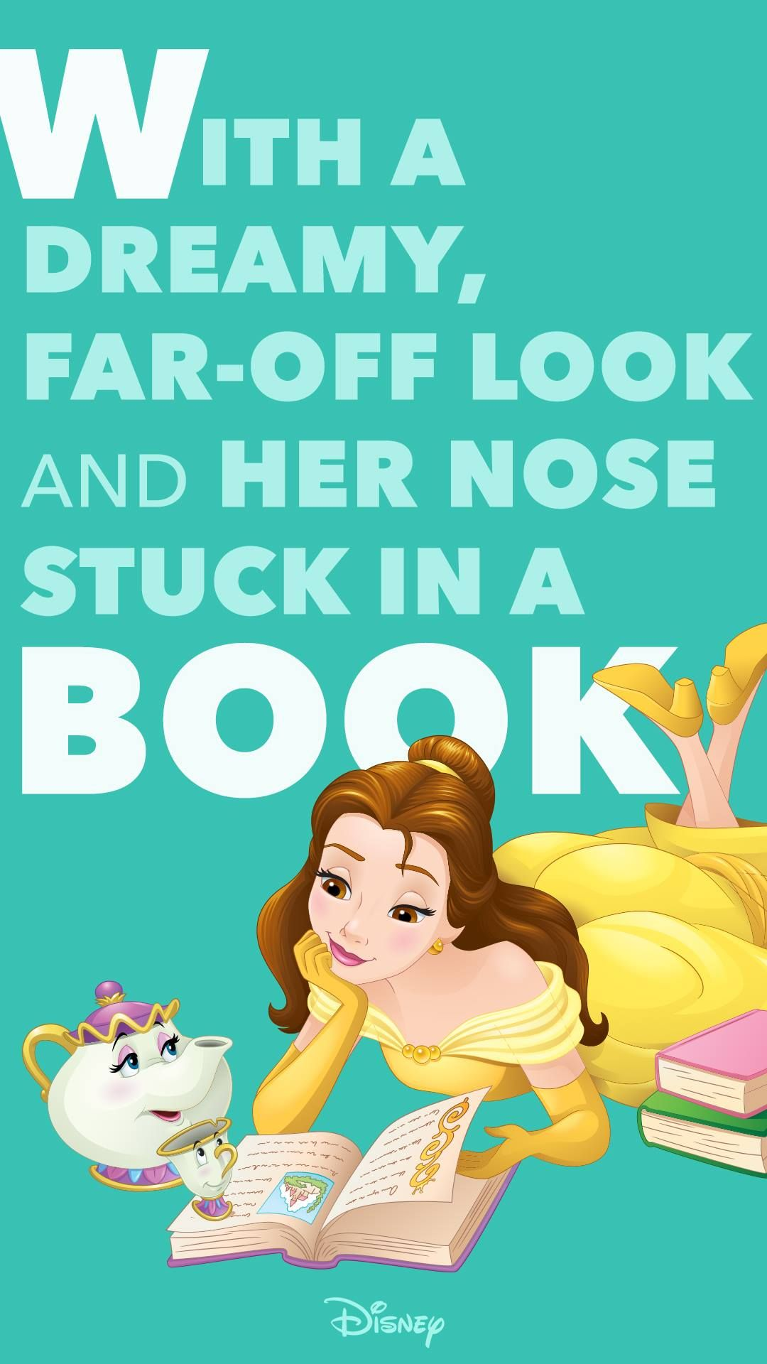 With A Dreamy Far Off Look And Her Nose Stuck In A Book B