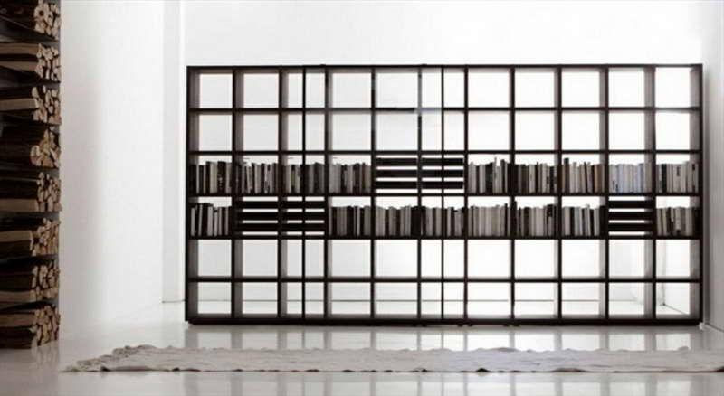 Modular Bookcase With White Carpet