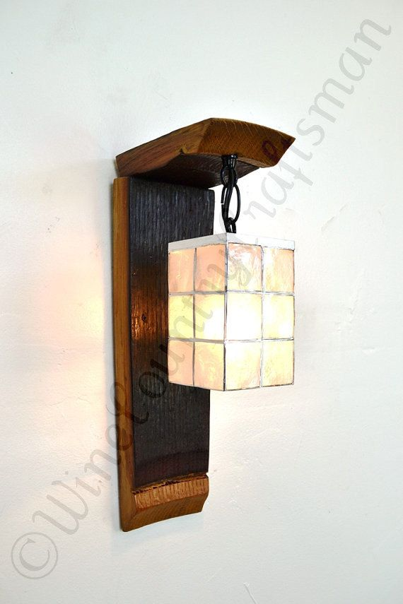 Wine Barrel Ring Wall Sconce Hanging By Winecountrycraftsman