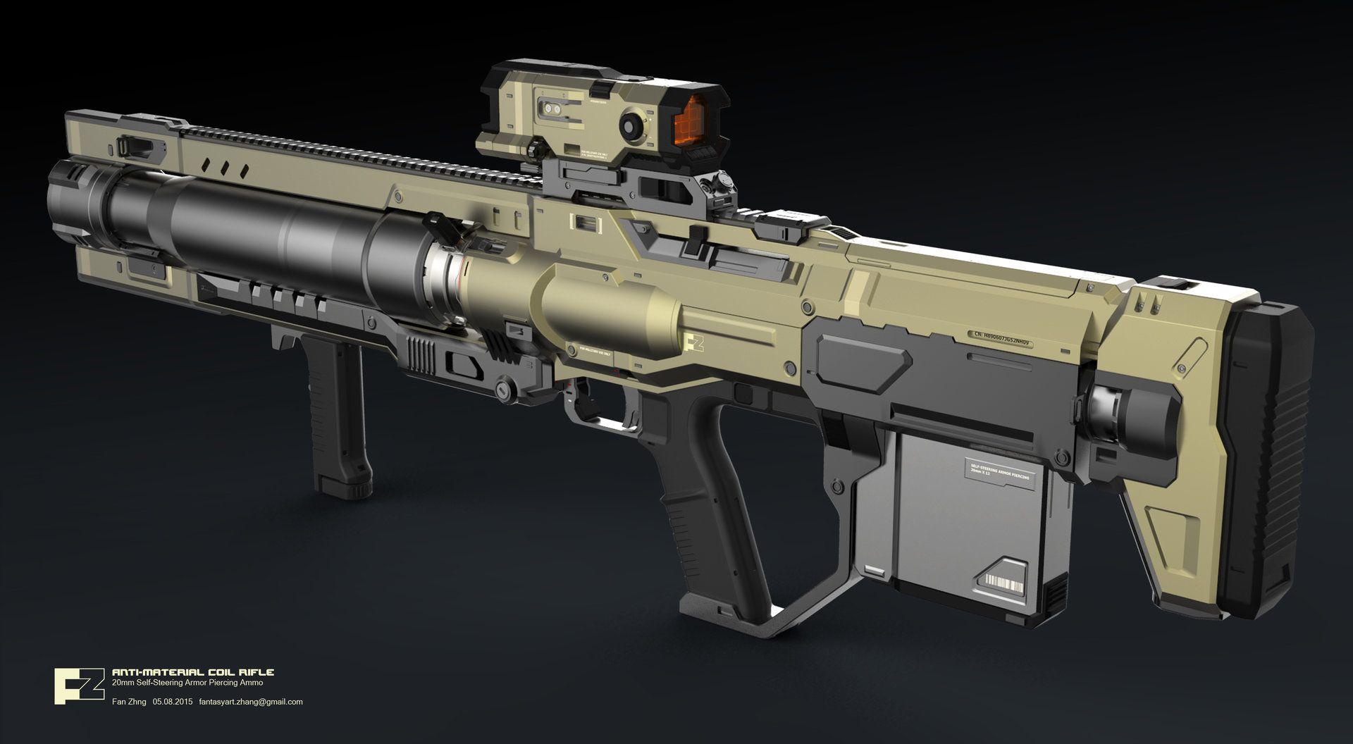 Shooting Material: ANTI-MATERIAL COIL RIFLE 20mm Self-Steering Armor Piercing