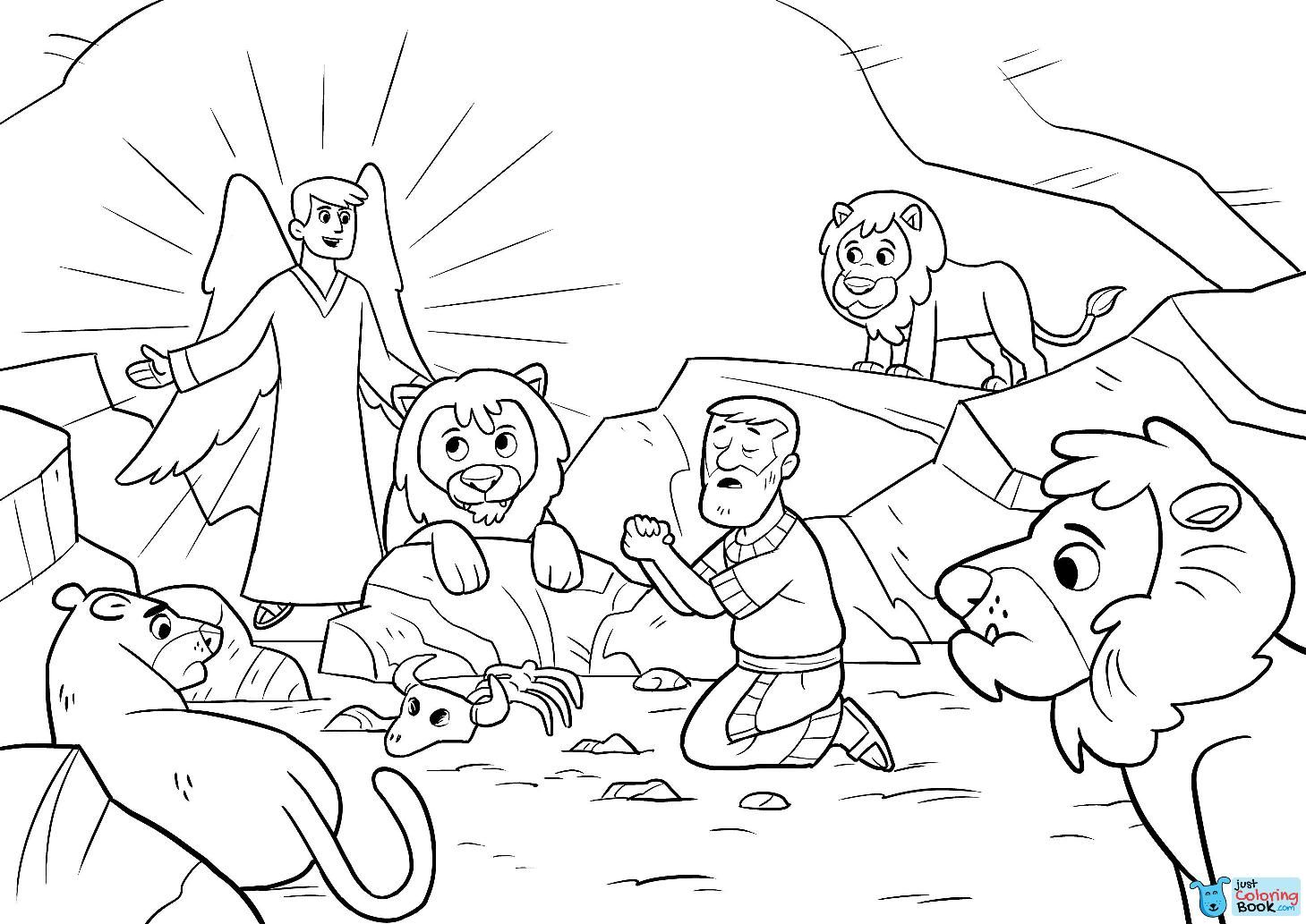 35++ Daniel and the lions den coloring page information