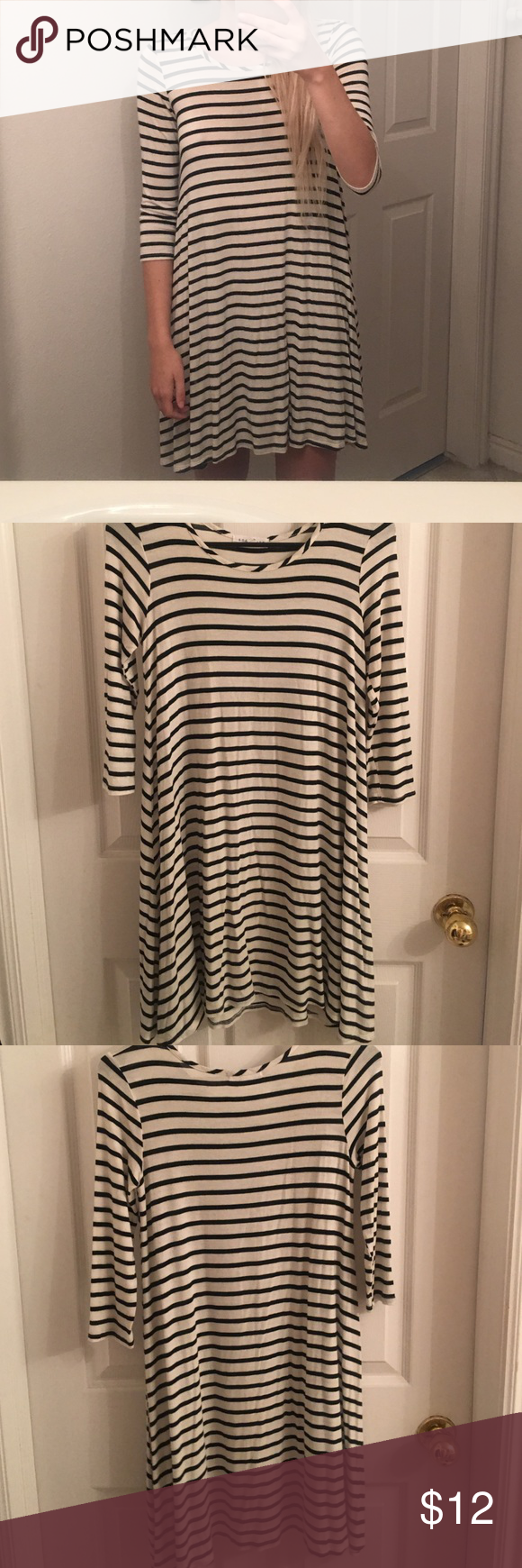 Socialite Striped Swing Dress Bought from tillys. Super cute in the fall with boots! Open to offers!!! Tilly's Dresses Mini