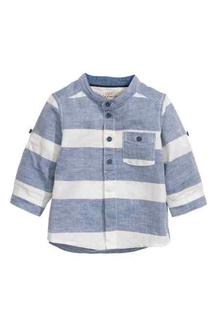 76e40630c H M - Grandad shirt in a linen blend £6.99
