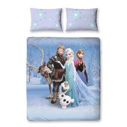 parure de lit double reine des neiges stellar 200x200 cm. Black Bedroom Furniture Sets. Home Design Ideas