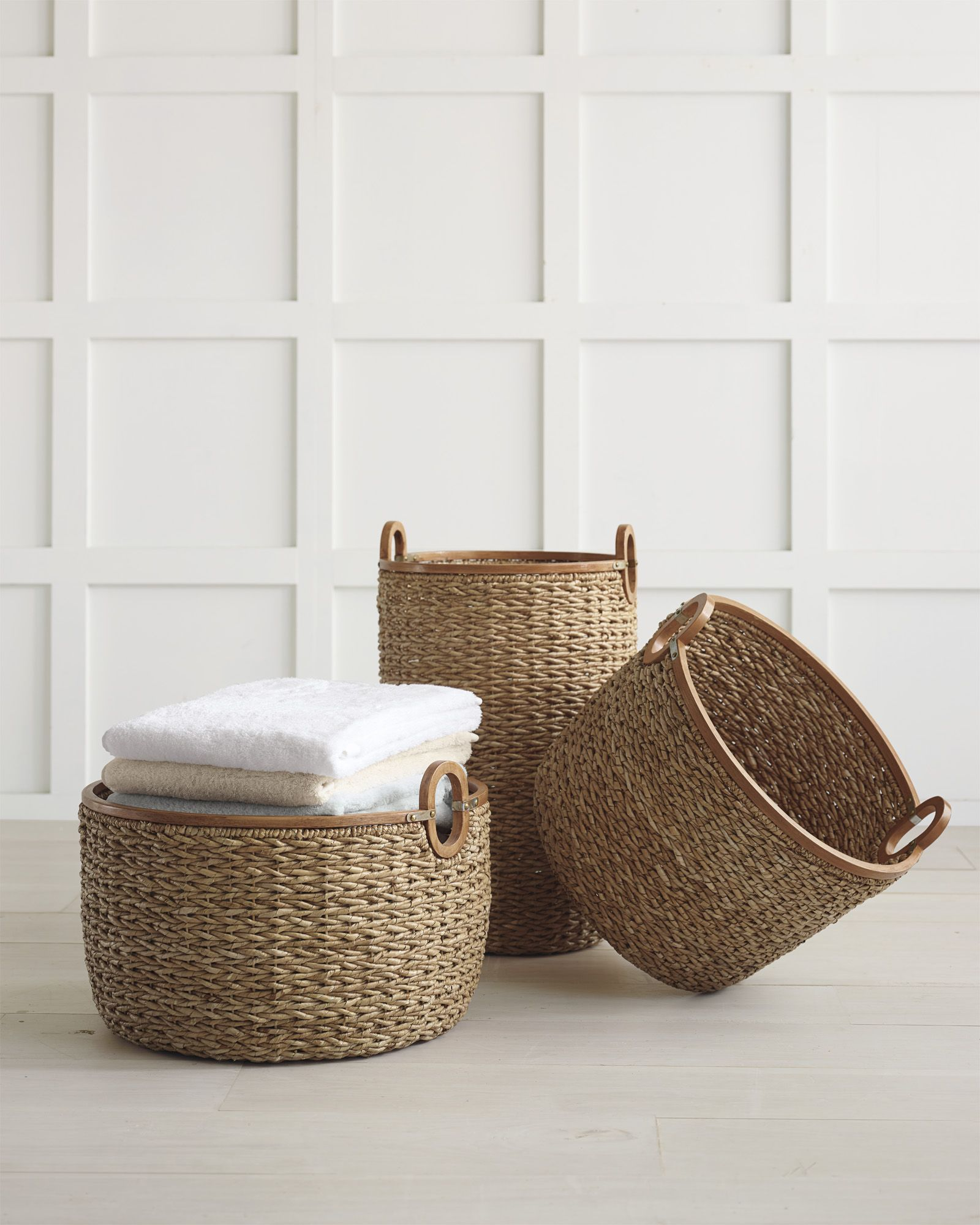 Bath essentials | Seagrass Baskets & Calistoga Bath Collection via ...