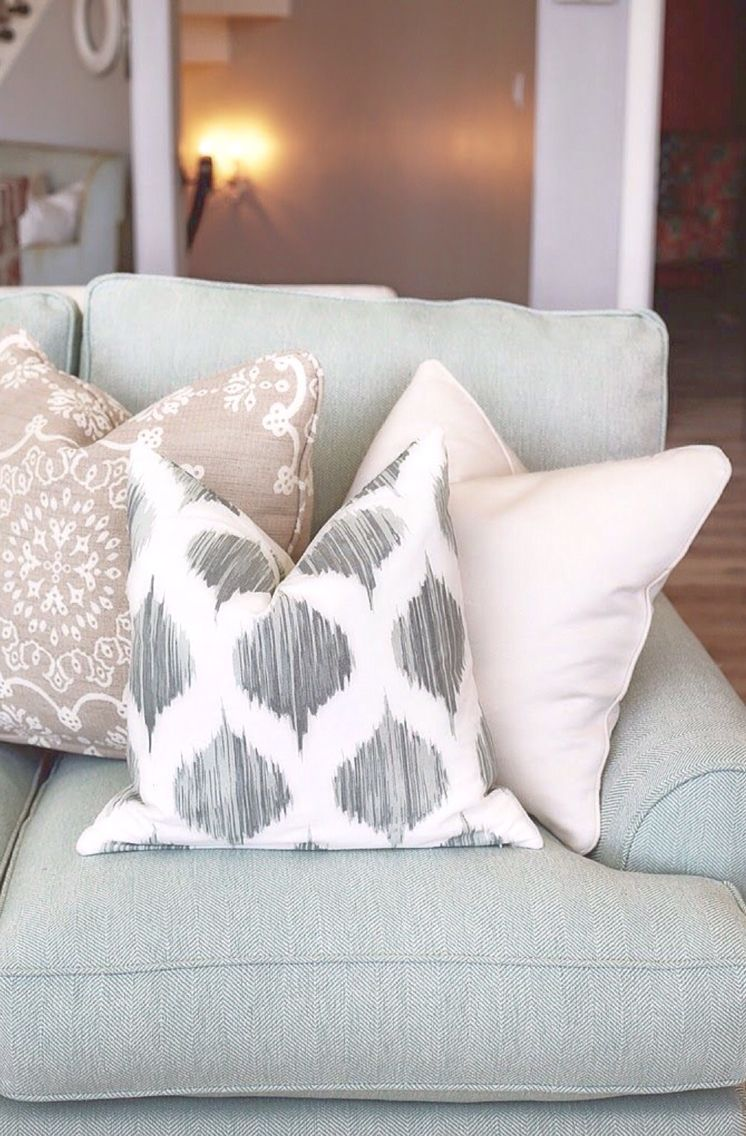 Dream Home Tour – Day One | Pillow arrangement, Pillows and Living rooms
