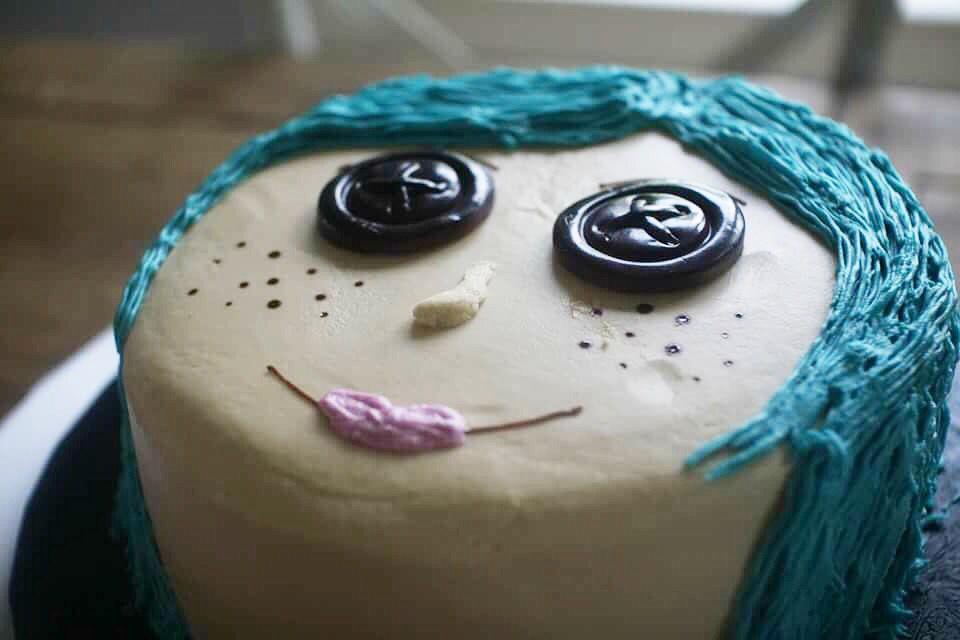 Marvelous Coraline Birthday Cake Round Birthday Cakes Birthday Party Funny Birthday Cards Online Inifodamsfinfo