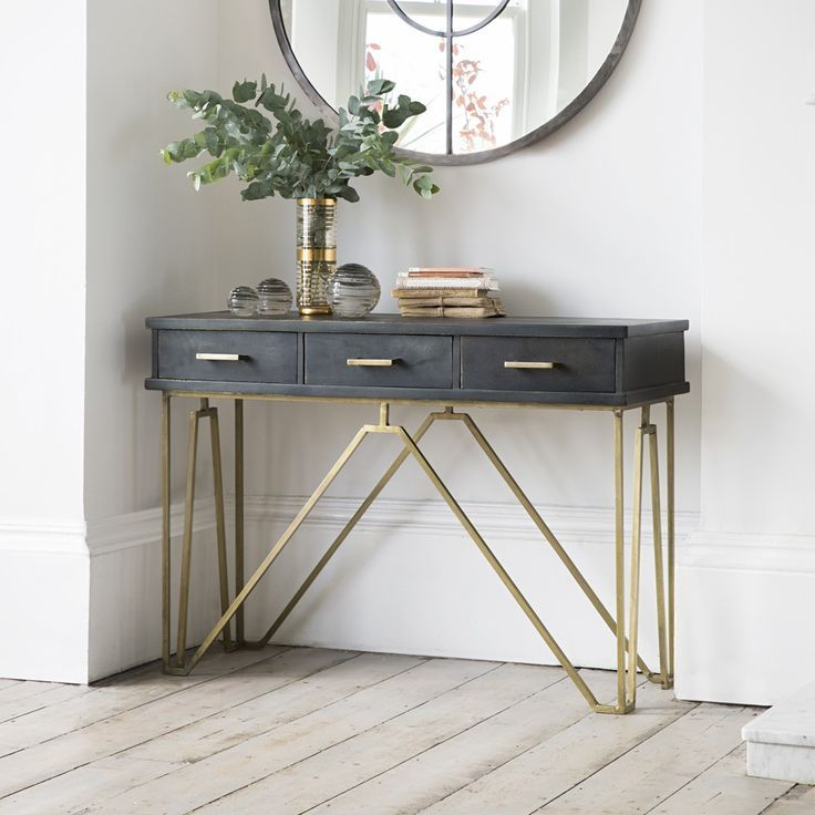 Hallway Console Table With Storage TABLE AND CHAIRS Pinterest