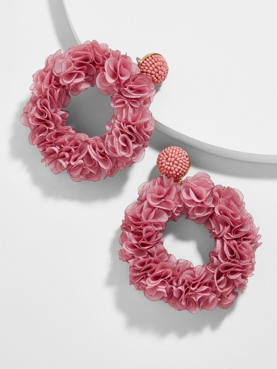 Camellia Flower Hoop Earrings Camellia Flower Shop Earrings Hoop Earrings