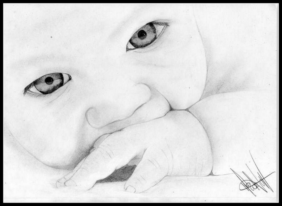 Pin by Celéste Niekerk on Sketse   Baby drawing, Drawings ...