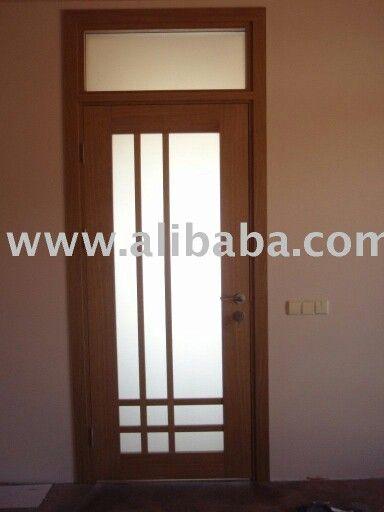 Puerta original con cristal
