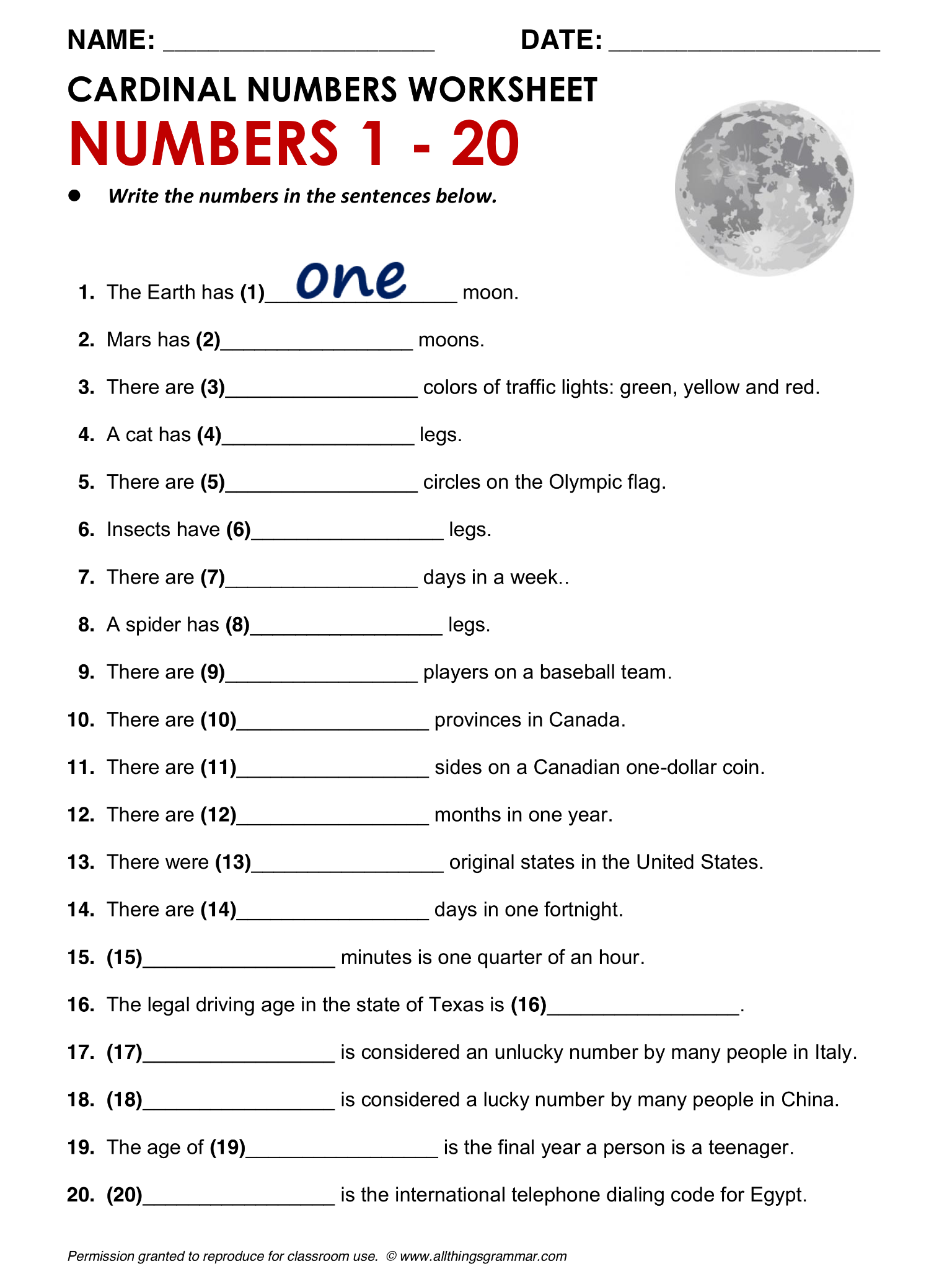 worksheet English Grammar For Adults Worksheets english grammar cardinal numbers httpwww allthingsgrammar com comnumbers