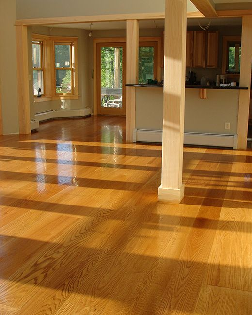 Wide Plank Red Oak Flooring With