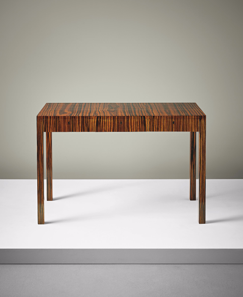 Axel Einar Hjorth; Macassar-Veneered Wood Desk for Nordiska ...