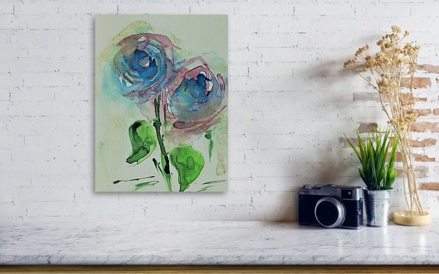 abstract Flower Acrylic Print by Britta Zehm Acrylics and Exhibitions - wohnzimmer bilder abstrakt