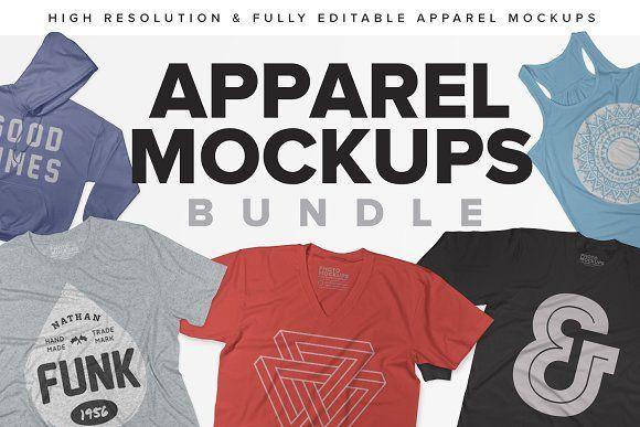 Massive Apparel Mockups Bundle Clothing Mockup Shirt Mockup Mockup