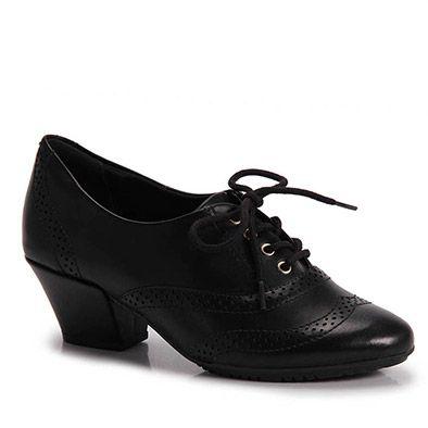 811bc4ab8 Sapato Oxford Feminino Comfortflex - Preto   Roupas   Sapatos oxford ...