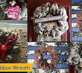 Photo of Make a burlap ribbon wreath and decorate a wreath for ALL seasons