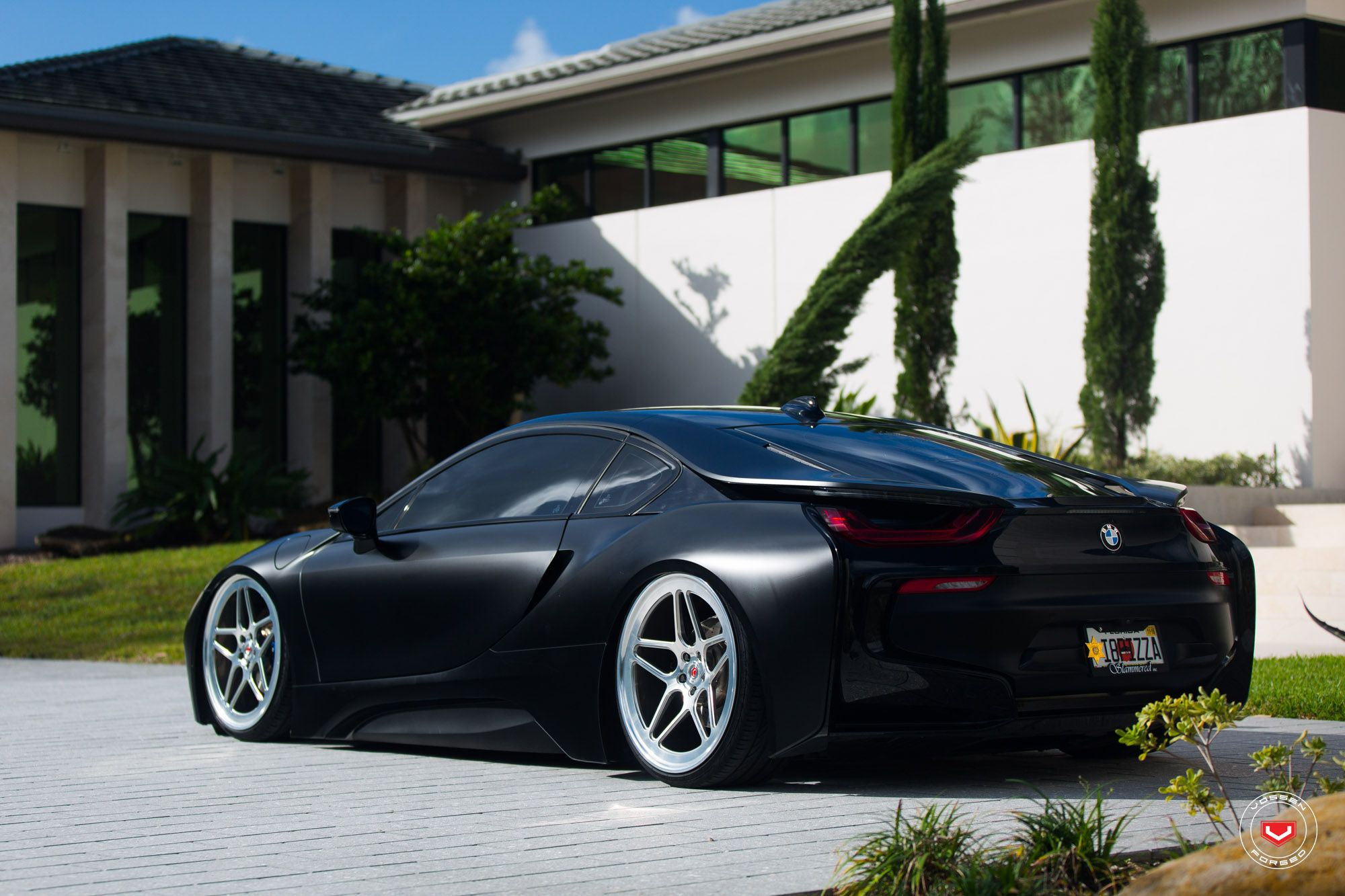Bmw I8 Edrive Coupe Vossen Wheels Black Pearl Provocative