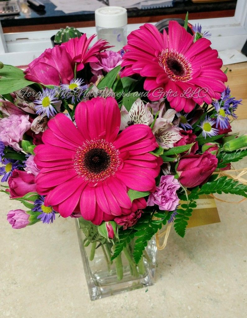 Got Hot Pink Birthday Bouquet By Forget Me Not Flowers And Gifts