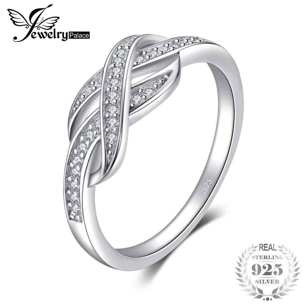 fb0a38ee70d3 JewelryPalace Infinity Heart Cubic Zirconia Stud Earrings 925 Sterling  Silver Gifts For Her Anniversary Fashion Jewelry New