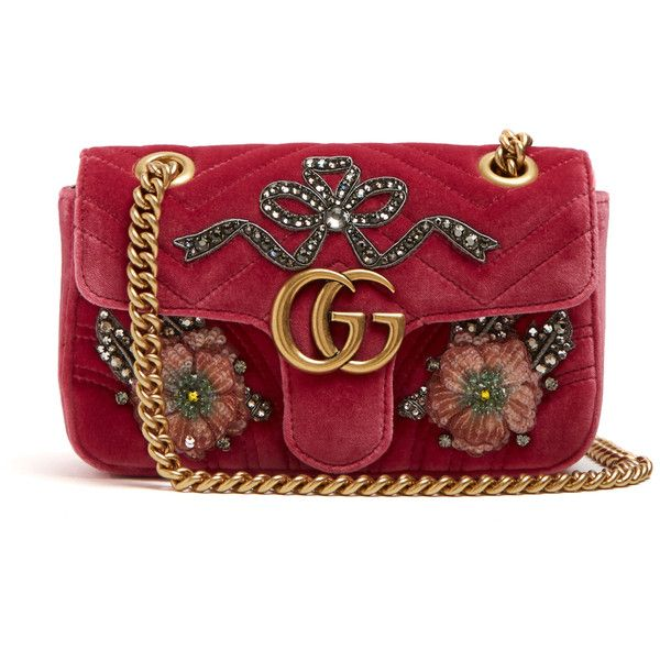 GG Marmont mini quilted-velvet cross-body bag Gucci Y1VFQ8
