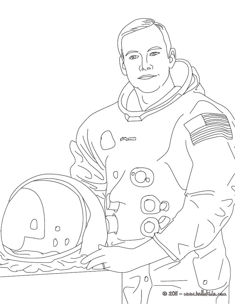 Neil Armstrong Coloring Page Neil Armstrong