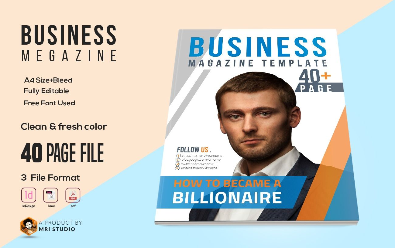 Business magazine template features a4 size 40 pages indesign business magazine template features a4 size 40 pages indesign template cmyk color mode compatible with flashek Choice Image