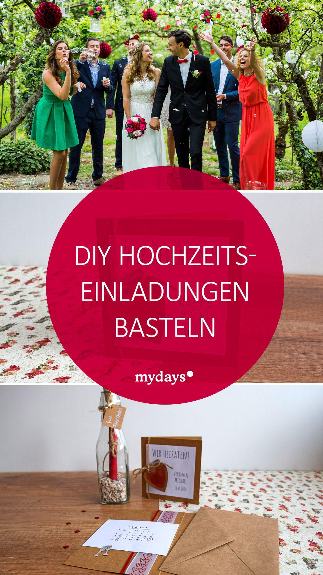 Diy Hochzeitseinladungen Basteln So Geht S Mydays Magazin Hochzeitseinladungen Basteln Hochzeitseinladung Einladungen