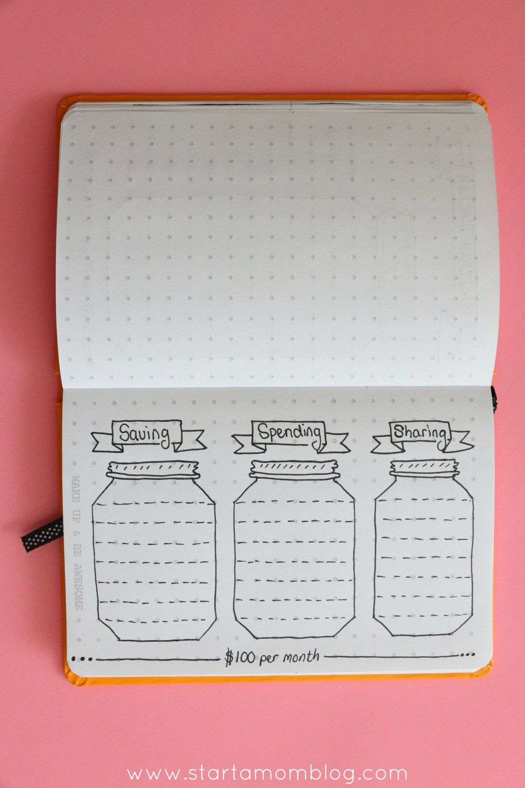 Saving Spending and Sharing Bullet Journal Spread. Such a great ...