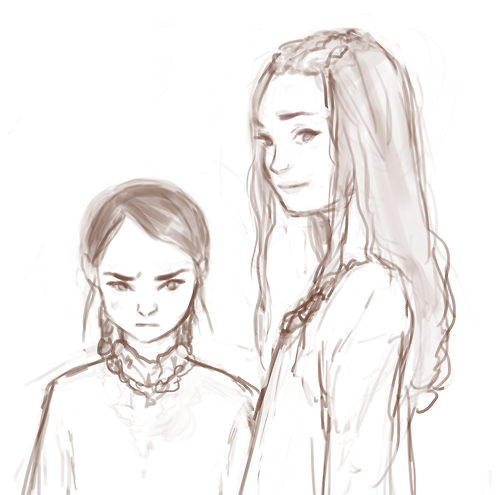 Sansa And Arya Stark By Http://sketchsyndrome.tumblr.com