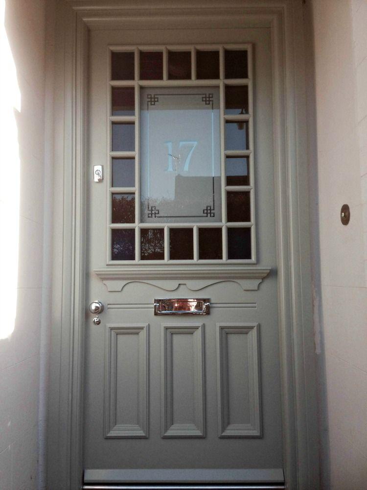 1930s Door In The Devonshire Style With Margin Glazing In Grey Front Doors With Windows Victorian Front Doors 1930s House Exterior