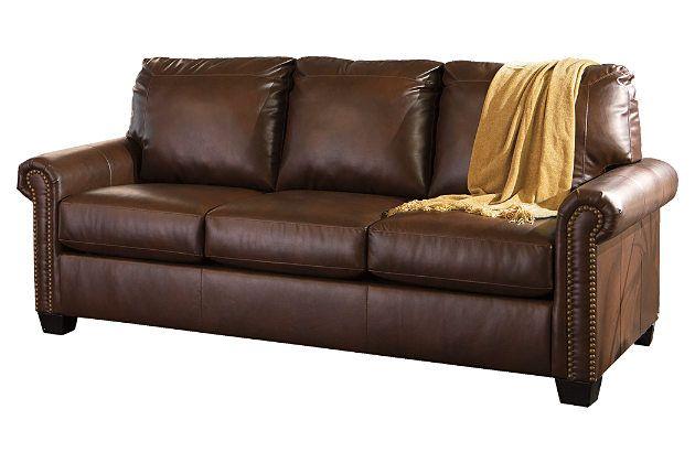 Lottie Durablenda R Queen Sofa Sleeper By Ashley Home Brown Cotton