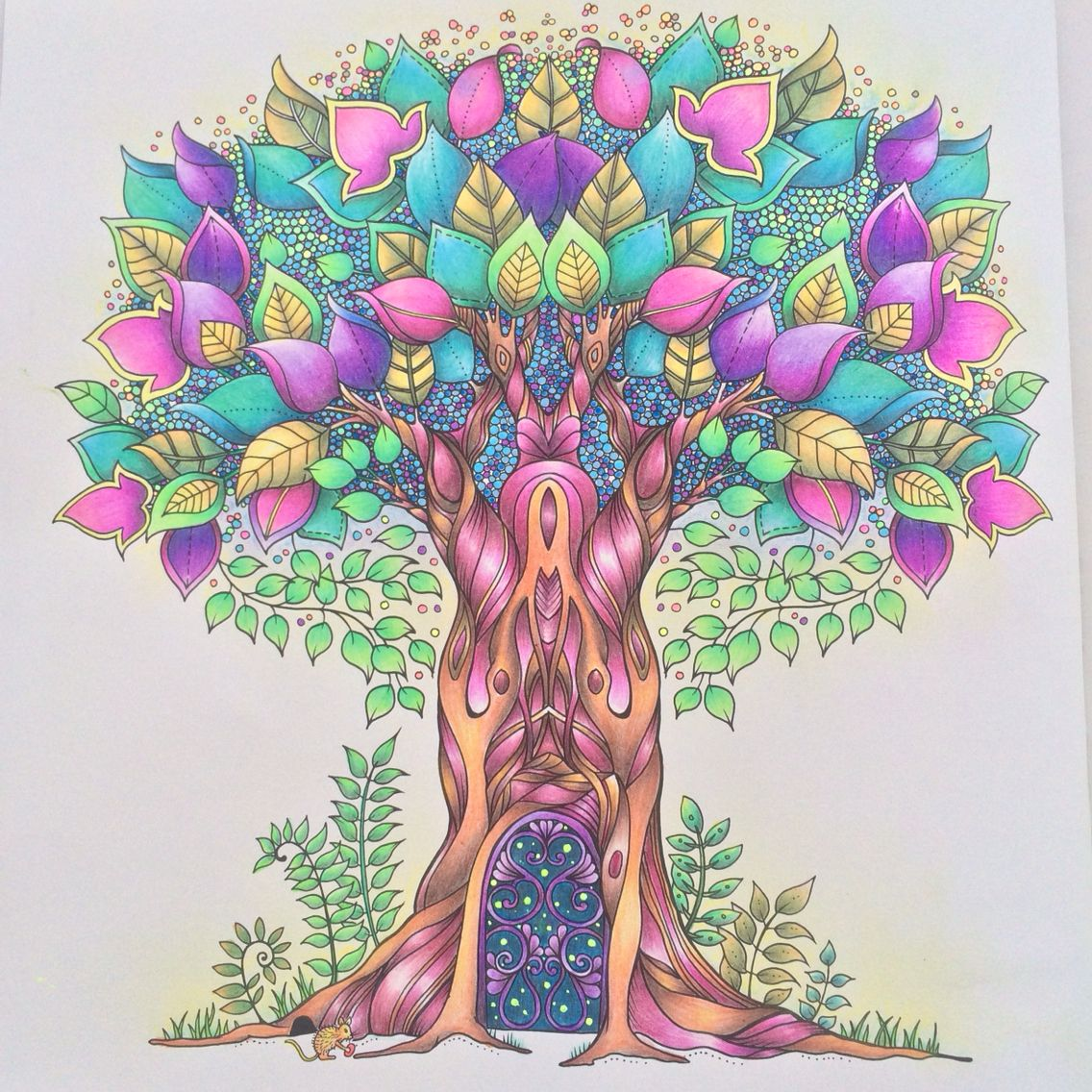 Zendoodle coloring enchanting gardens - Life Is Full Of Hope Colorful Tree Enchanted Forest