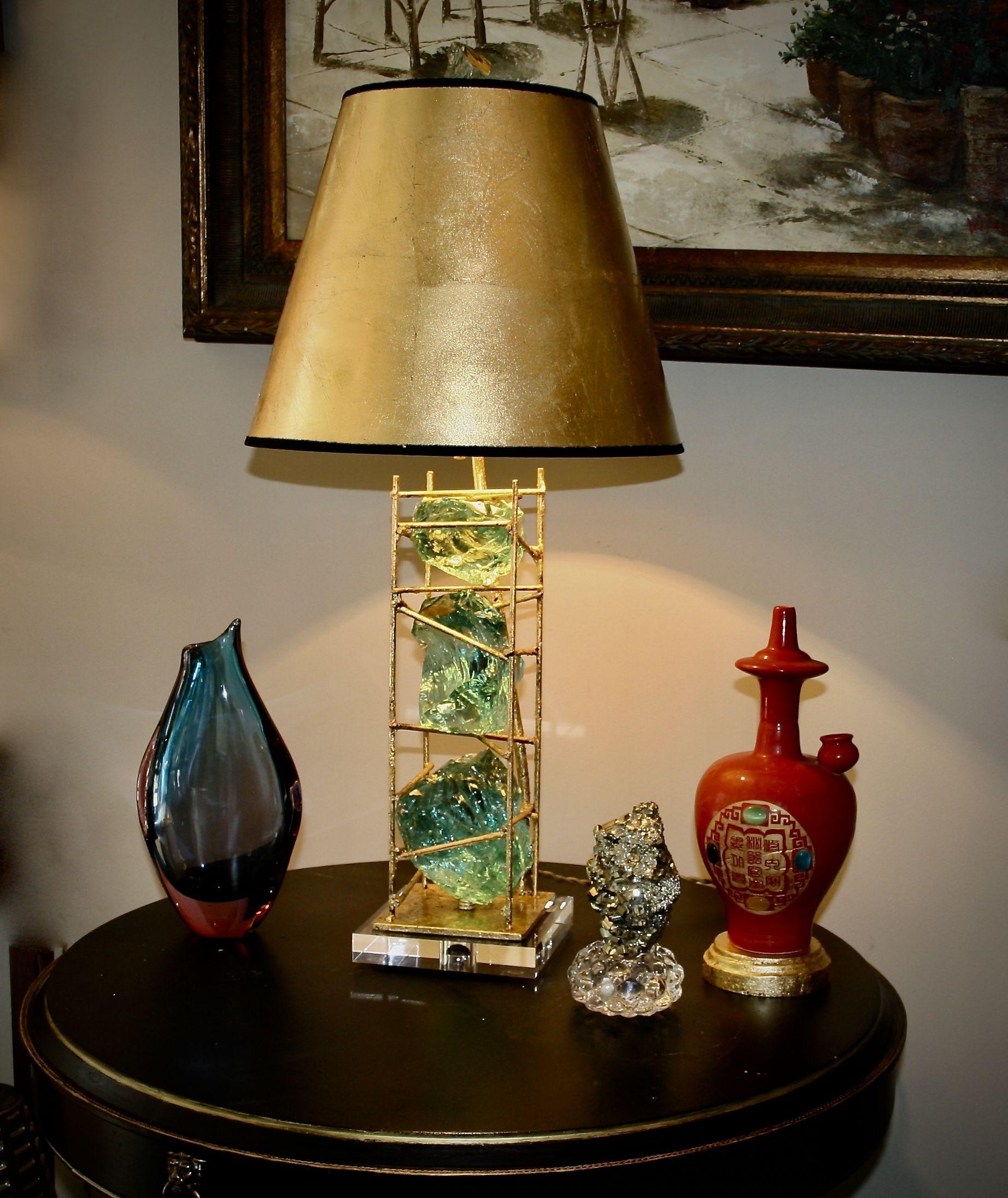 Glass Rock Tower Lamp Lamp Rock Lamp Lamp Shade