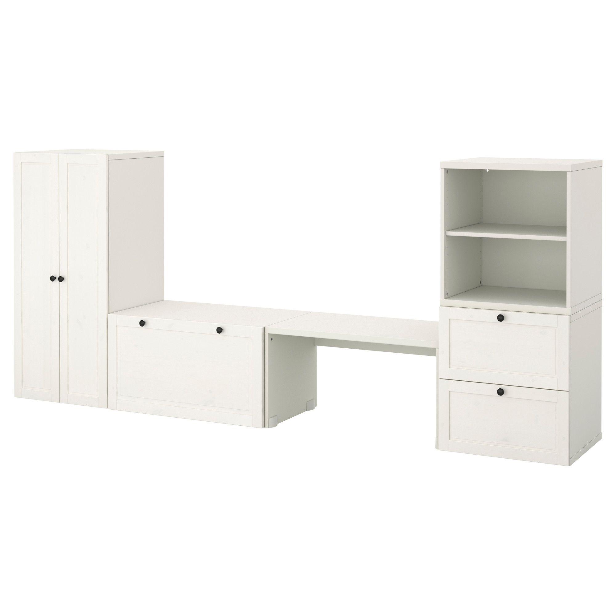 STUVA Förvaringskombination med bänk vitbets IKEA Kids stuff Pinterest